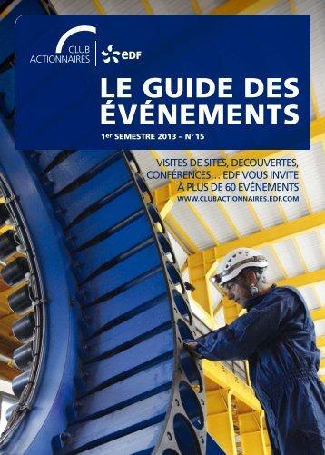 le guide des ÉVÉNeMeNTs - Finance - EDF