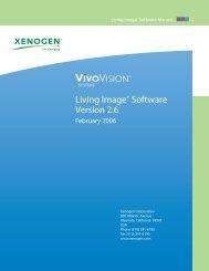 Xenogen IVIS-200 user manual
