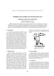 hybrid fuzzy model of nonlinear plant - Information Technology and ...