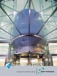 Rapport annuel2000 Rapport annuel - BNP Paribas