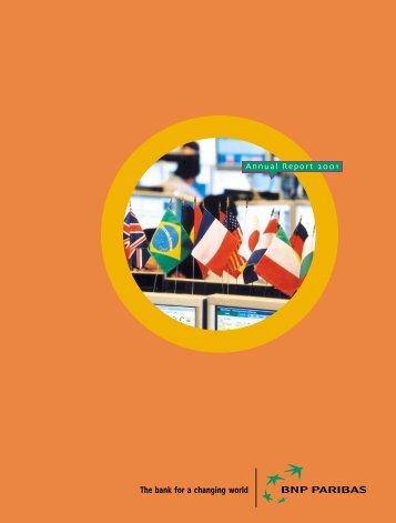 2001-BNP Paribas Annual Report