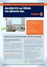 HALOGEN ECO von OSRAM: eine glänzende Idee.
