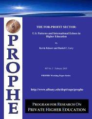 For-Profit Higher Education: U - Eric - U.S. Department of Education