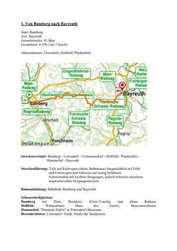 eitere E-Bike-Touren - Die Fränkische Schweiz