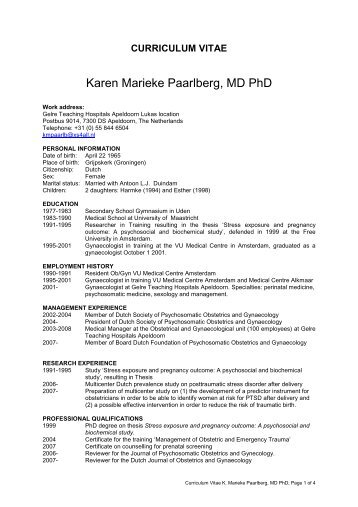 Karen Marieke Paarlberg, MD PhD
