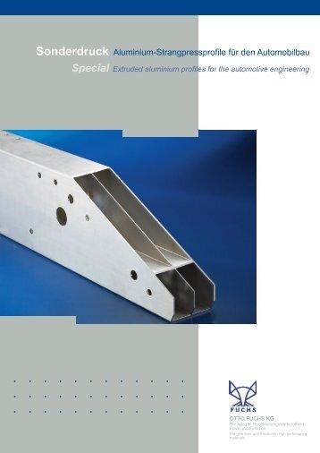 Sonderdruck Aluminium-Strangpressprofile für den ... - Otto Fuchs KG