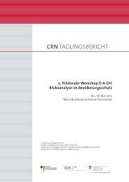 Trinationaler Workshop Risikoanalyse: Tagungsbericht 2011