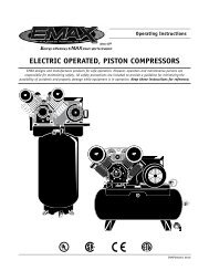 ELECTRIC OPERATED, PISTON COMPRESSORS - Air ...