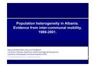 Population heterogeneity in Albania. Evidence from inter-communal ...