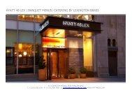 hyatt 48 lex | banquet menus| catering by lexington brass