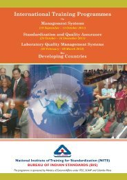 International Training Programme - BIS