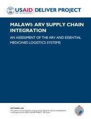 MALAWI: ARV SUPPLY CHAIN INTEGRATION - PDF, 101 mb - usaid