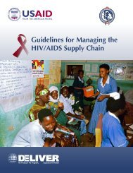 Guidelines for Managing the HIV/AIDS Supply Chain