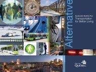 Sustainable Mobility Plan (PDF : 40 Mo) - Ville de Québec