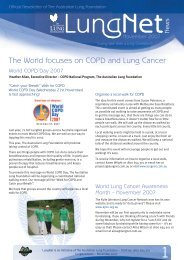 The World focuses on COPD and Lung Cancer - Lung Foundation