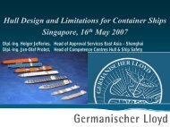 Hull Design and Limitations for Container Ships