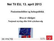 Unni Hagen - Nei til EU