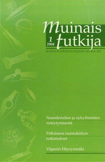PDF - Suomen arkeologinen seura ry.