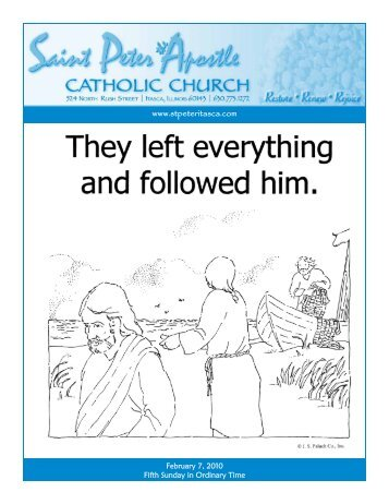 Bulletin - February 7, 2010 - Saint Peter The Apostle Catholic Church