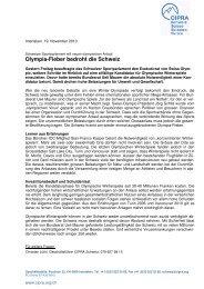 Olympia-Fieber bedroht die Schweiz