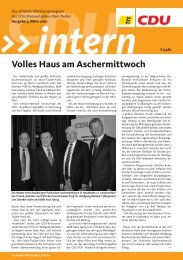 Aus den Ortsverbänden KREISTEIL - CDU Main-Tauber