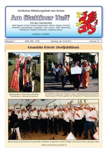 Grambin feierte Dorfjubiläum - Stadt Eggesin