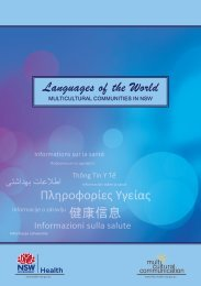 Languages of the World - Multicultural Health Week