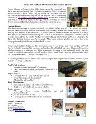 Seminar Information Brochure dates - Noah's Ark & Early Man ...