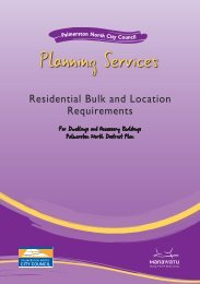 Residential Bulk and Location Requirements - Palmerston North ...