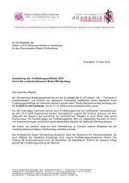 landesärztekammer baden-württemberg - Weiter- und ...