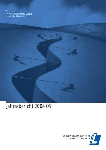 Jahresbericht 2004/5 - 50 Jahre Leasing - BDL