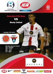 Rockdale City Suns Manly United - Football NSW