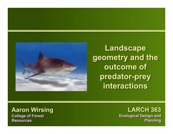 Landscape geometry and the outcome of predator ... - BE Courses