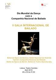 Dia Mundial da Dança V GALA INTERNACIONAL DE BAILADO