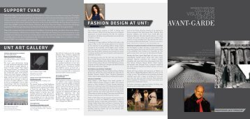 fashion design at unt avant-garde - School of Visual Arts - University ...