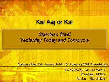 Stainless Steel - Yesterday, Today and Tomorrow - Indian Stainless ...