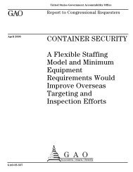 GAO-05-557 Container Security - US Government Accountability Office