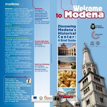 Welcome to Modena - Informazioni turistiche Comune di Modena