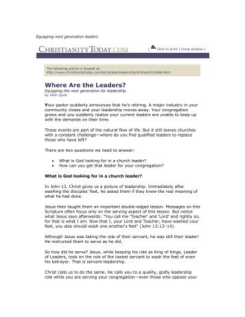 Equipping Next Generation Leaders - Shadow Mountain Community ...