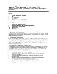 Agenda FR vergadering 12 november 2009