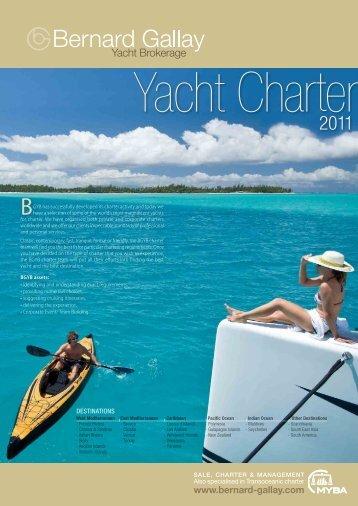 Charter Directory 2011 BGYB - Bernard Gallay Yacht Brokerage