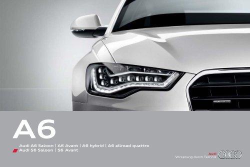 Audi A6 Saloon   A6 Avant   A6 hybrid   A6     - Audi South Africa