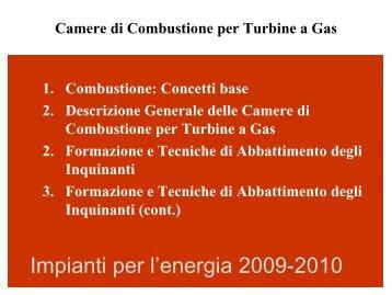 Formazione di Inquinanti Legatti alla Combustione nei ... - TPG