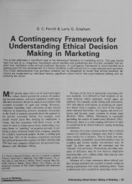 A Contingency Framework for Understanding ... - E-Business Ethics