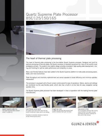 Quartz Supreme Plate Processor 85E/125/150/165
