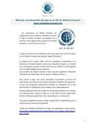 Effectuer une demande de logo en ligne - Le Pacte Mondial