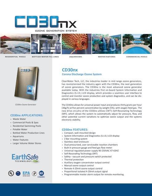CD30nx Specification Sheet - ClearWater Tech LLC