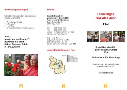 Freiwilliges Soziales Jahr (FSJ) - Sozial-Betriebe-Köln