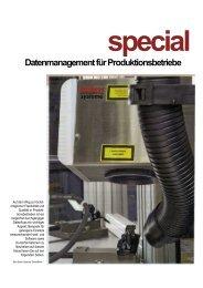 special Datenmanagement für Produktionsbetriebe