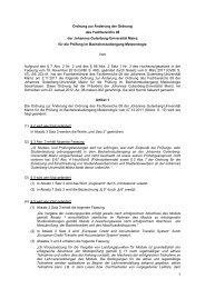 und Prüfungsordnung Bachelor of Science Meteorologie